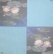 Ubrousek světoví malíři - Monet, lekníny za soumraku