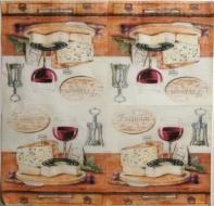 Ubrousek víno - sýry na prkénku
