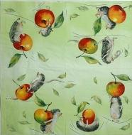 Ubrousek zvířata - ježek s jablkem
