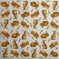 Ubrousek zvířata - zajíčci s mrkví