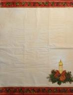 Ubrousek vánoční - svíčka, červený lem