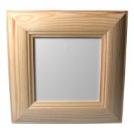 Rámeček dřevěný profilovaný 12x12 cm