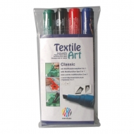 Fixy na textil - sada 4 odstíny Classic