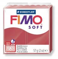 Fimo soft - tmavě červená 57g
