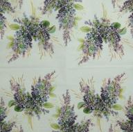 Ubrousek květiny - šeříky malované