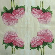 Ubrousek květiny - hortenzie růžová