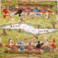 Ubrousek dětský - oběd v lese