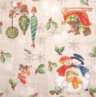 Ubrousek dětský - tři malovaní sněhuláci