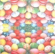 Ubrousek velikonoční - barevná vajíčka v trávě