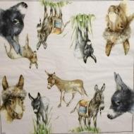 Ubrousek zvířata - oslíci