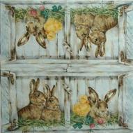 Ubrousek zvířata - králíčci, kuřátko