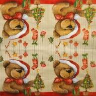 Ubrousek vánoční - medvídek s čepicí