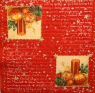 Ubrousek vánoční - svíčka a baňky lyrics