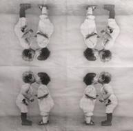 Ubrousek vintage - zamilované děti
