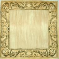 Ubrousek vzorovaný - obrazový rám, krémový