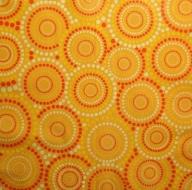 Ubrousek vzorovaný - kolečka na oranžovém
