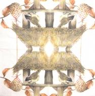 Ubrousek ptáci - ptáčci na krmítku