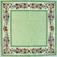Ubrousek vzorovaný - květinový rám