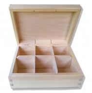 Krabička na čaj - 6 přihrádek