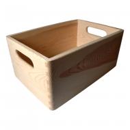 Dřevěná bedýnka s uchem 30x20