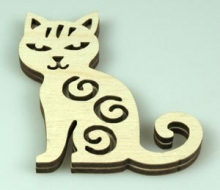 Razítko na textil - kočka