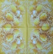 Ubrousek velikonoční - žlutá a bílá vajíčka