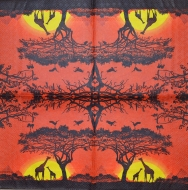 Ubrousek Afrika - žirafy pod stromem