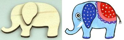 Předměty překližka - slon