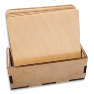 Dřevěné tácky čtvercové - sada 6 ks
