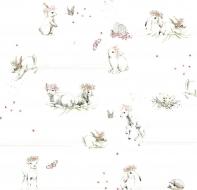 Papír na scrapbooking - králíci a ovečky