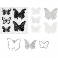 Vyřezávací a embosovací sada - motýli