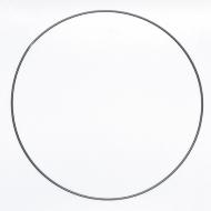 Drátěný kruh na lapač snů černý - průměr 50 cm