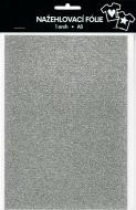 Nažehlovací fólie s glitry A5 - stříbrná