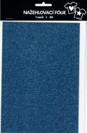 Nažehlovací fólie s glitry A5 - old blue