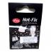 Hot-Fix skleněné - duhové kulaté 3  mm