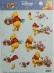 Papíry na decoupage 3D - Medvídek Pů s kyticí