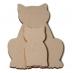 Předměty překližka - kočka s kotětem