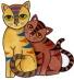 Předměty překližka - kočky