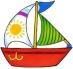 Předměty překližka - loďka