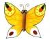 Předměty překližka - motýl 01