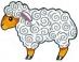 Předměty překližka - ovečka
