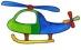 Předměty překližka - vrtulník