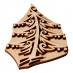 Razítko na textil - vánoční stromek 07