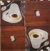 Ubrousek káva - cappuccino se skořicí