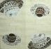 Ubrousek káva - Malované šálky hnědobílé