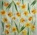 Ubrousek květiny - žluté narcisy