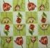 Ubrousek květiny - žíhané tulipány