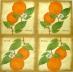 Ubrousek ovoce - pomeranče květ