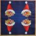 Ubrousek vánoční - čepice s dárky