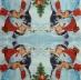Ubrousek vánoční - děvčátko a sněhulák